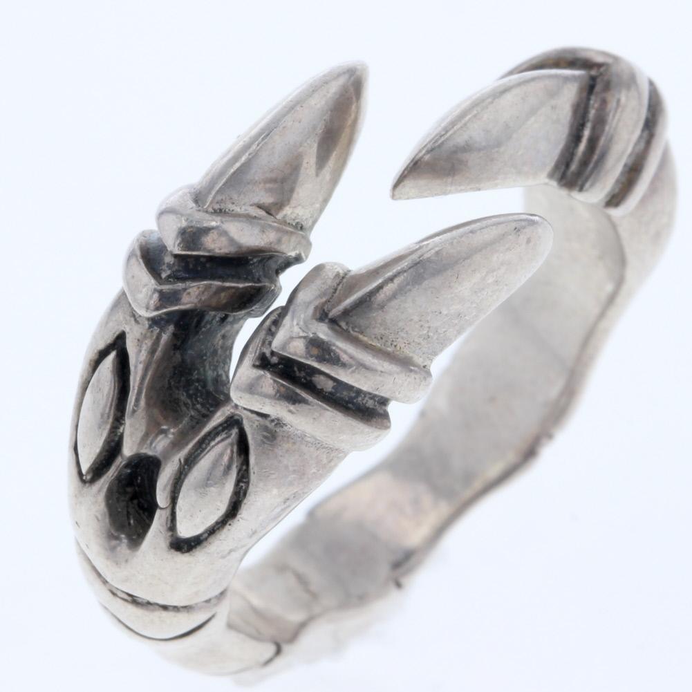 送料無料 お買い得 ギフト 中古 リサイクル デザイン リング 指輪 メンズ 本物 19号 R80412058 シルバー SV925 緊急値下げ 売買