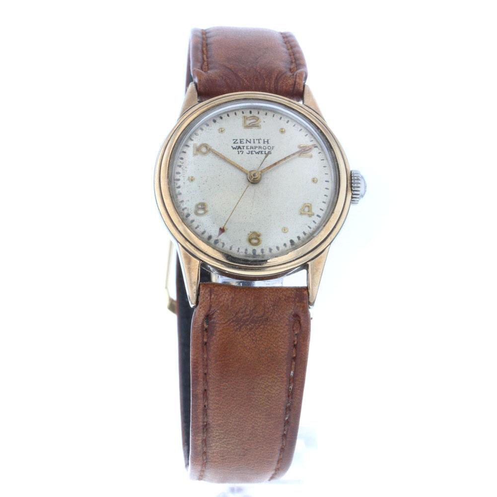ゼニス 17 jewels 腕時計 手巻 社外バンド ステンレス レザー レディース ZENITH【中古】K60505697 【PD3】