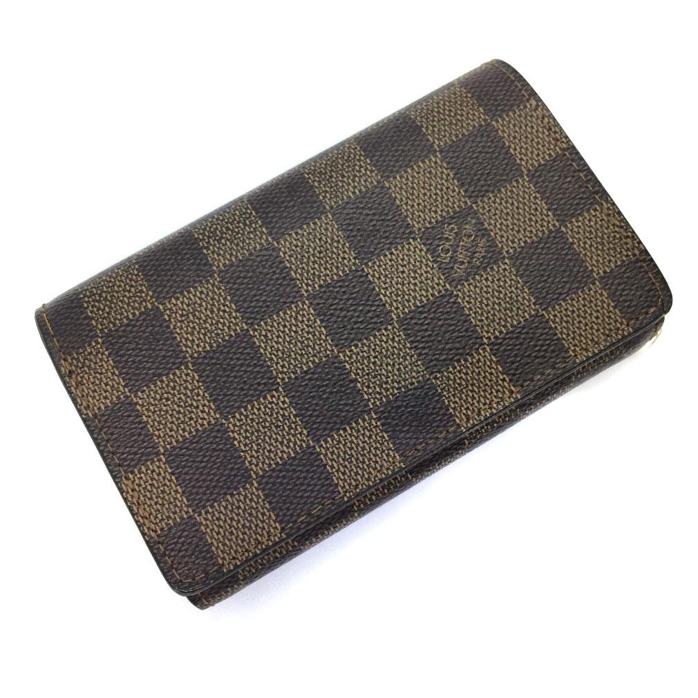 ルイヴィトン L字ファスナー 二つ折り財布 N61730 ダミエキャンバス ブラウン レディース LOUIS VUITTON 【中古】K71127520 【PD2】