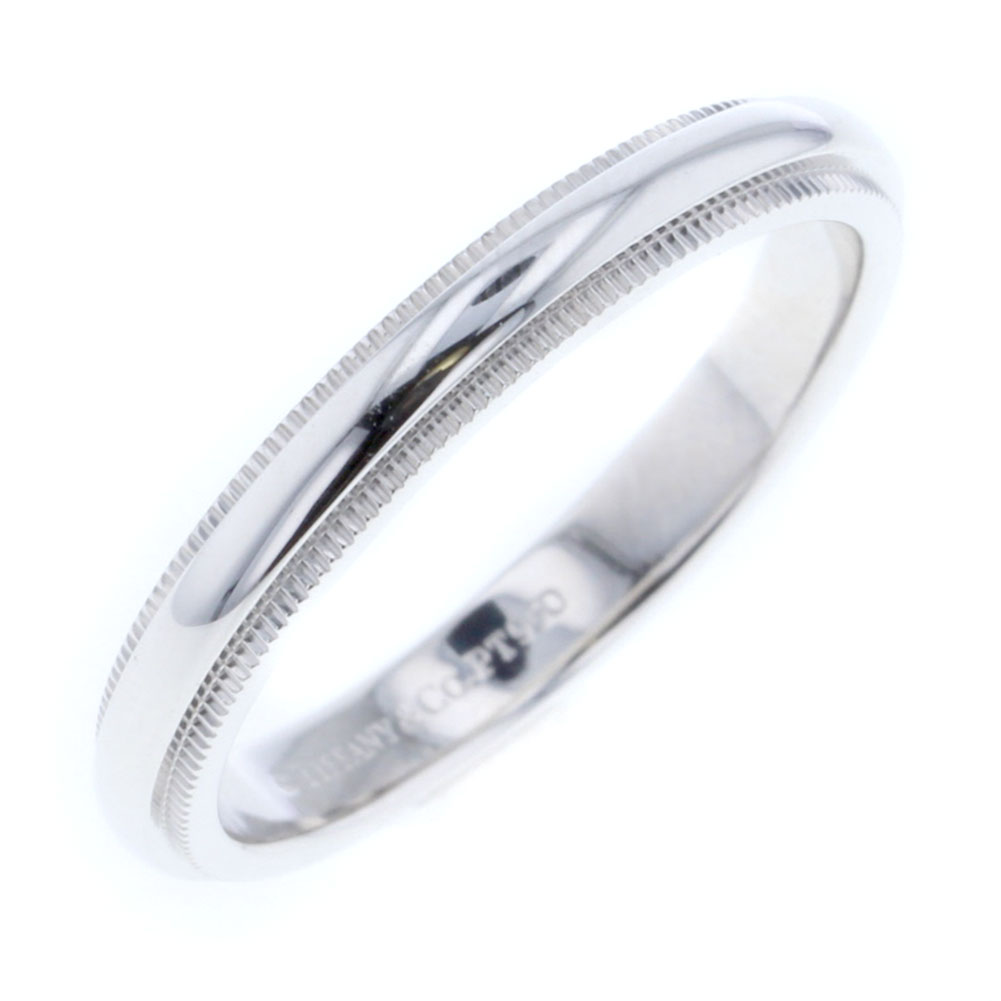 ティファニー ミルグレインバンド 3mm リング 指輪 プラチナ PT950 18号 メンズ TIFFANY&Co. 【中古】K80516699 【PD3】
