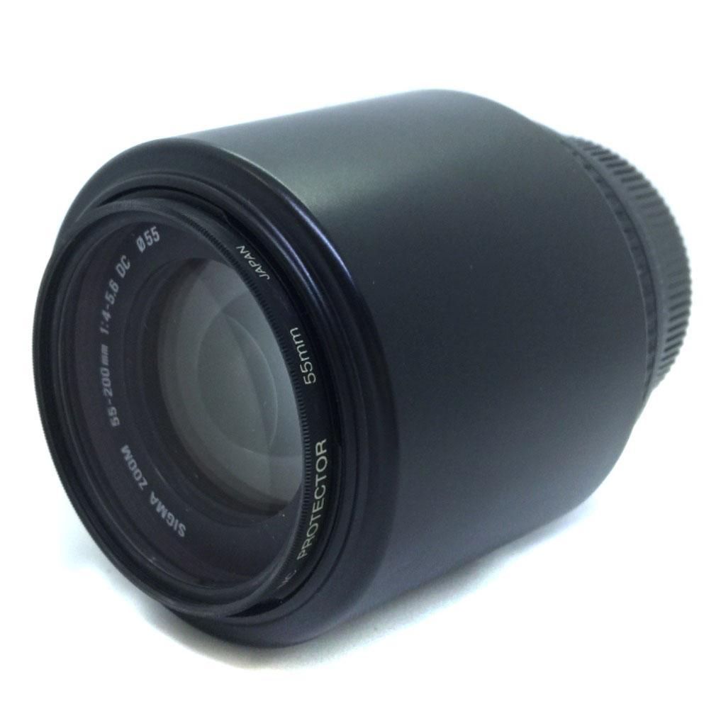 シグマ ニコン用 レンズ 55-200mm F4-5.6 ズーム ブラック 【中古】K80616052 【PD3】