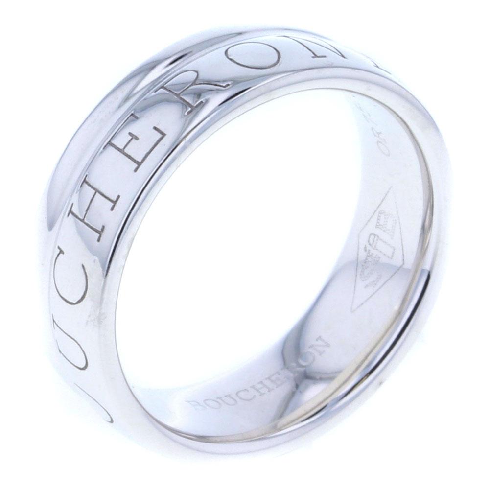 ブシュロン ロゴ 1858 リング・指輪 750WG K18ホワイトゴールド 8.5号 レディース Boucheron【中古】K80509617 【PD3】