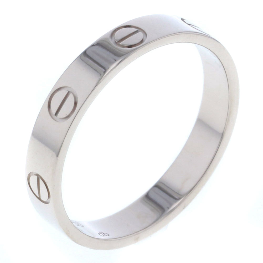 カルティエ ミニラブ リング・指輪 K18ホワイトゴールド 16号 メンズ CARTIER 【中古】K80513642