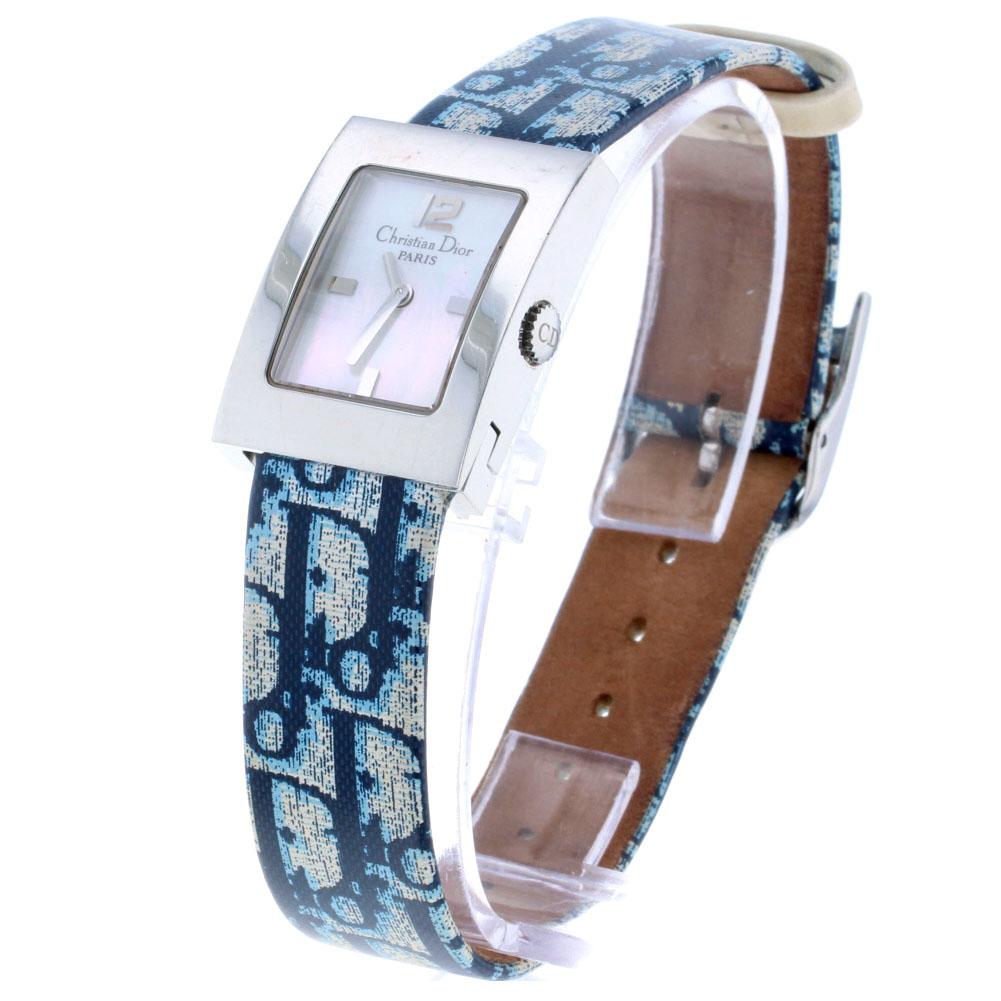 クリスチャンディオール 腕時計 D78-109D ステンレス ブルー レディース Christian Dior【中古】K80626508