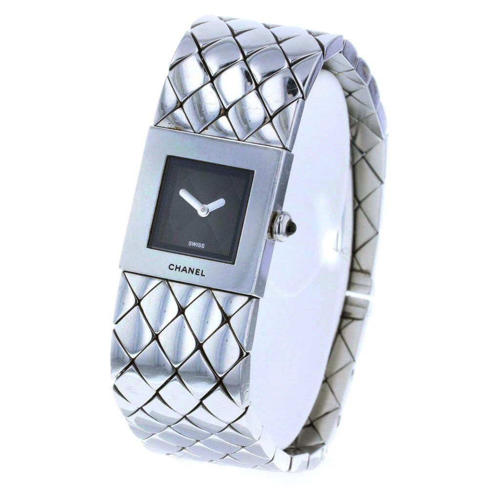 シャネル マトラッセ 腕時計 ステンレススチール シルバー レディース CHANEL 【中古】K80626240 【PD3】