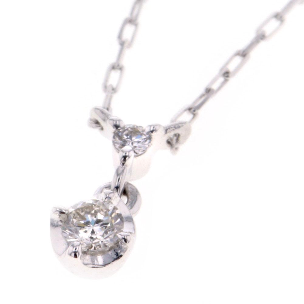 ヨンドシー ネックレス K10ホワイトゴールド/ダイヤモンド レディース 4℃ 【中古】K80613054