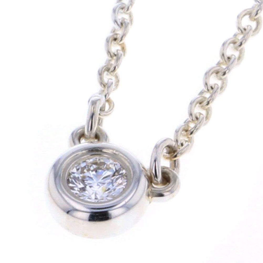 ティファニー バイザヤード ネックレス スターリングシルバー925/ダイヤモンド1P 約0.08ct レディース TIFFANY&Co. 【中古】K80613086