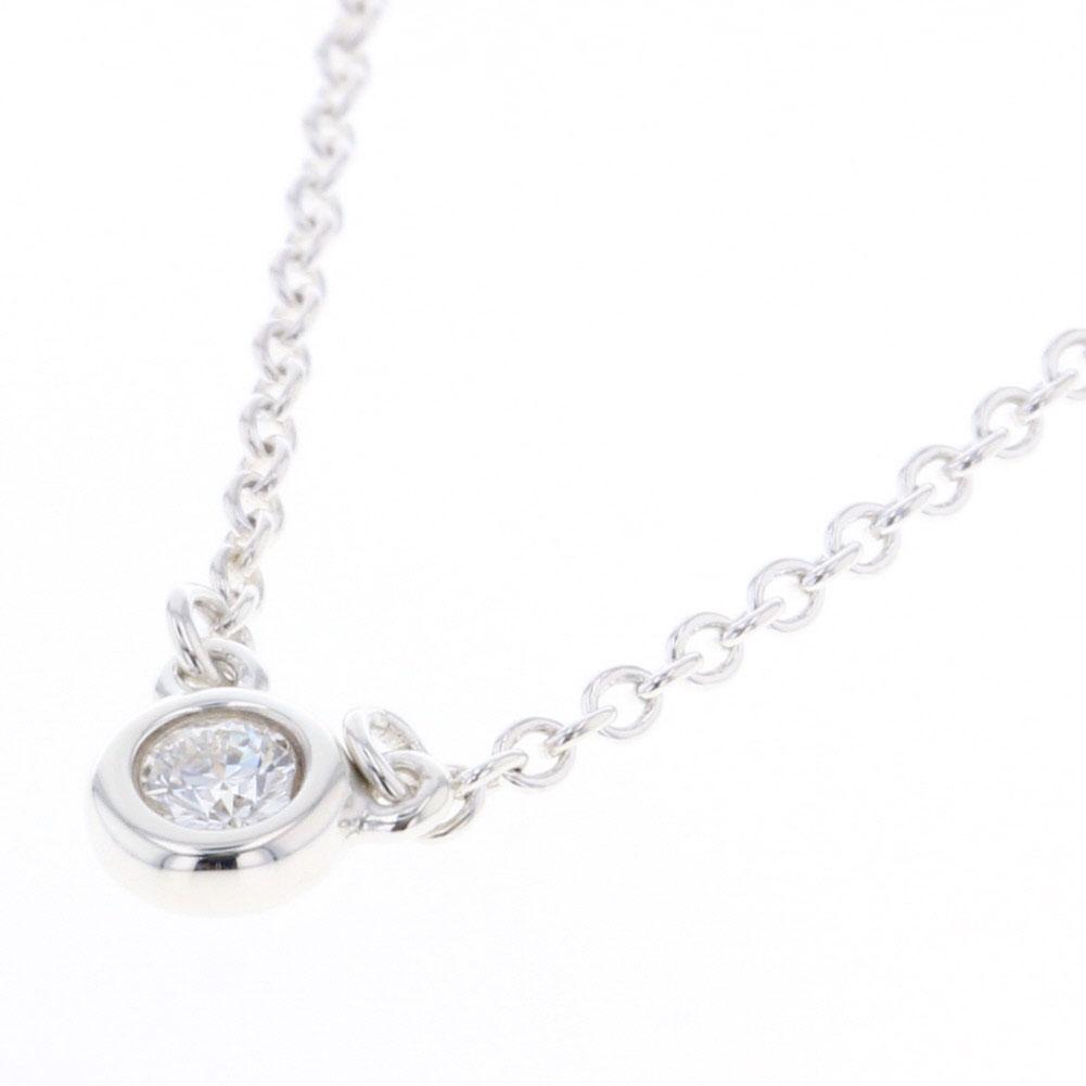 ティファニー バイザヤード ダイヤモンド 1P ネックレス SV925 シルバー レディース TIFFANY&Co. 【中古】K80613098