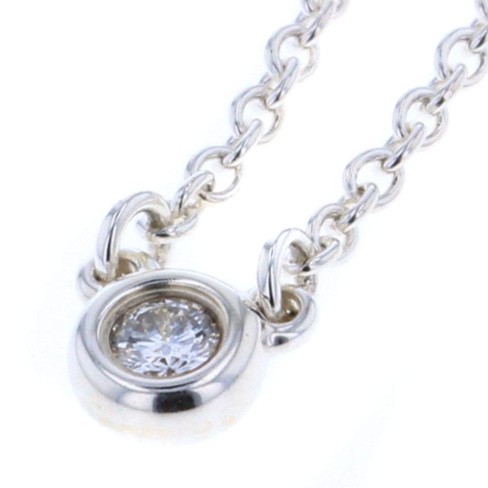 ティファニー バイザヤード ネックレス シルバー925 ダイヤモンド 1P レディース TIFFANY&Co. 【中古】K80613131 【PD1】