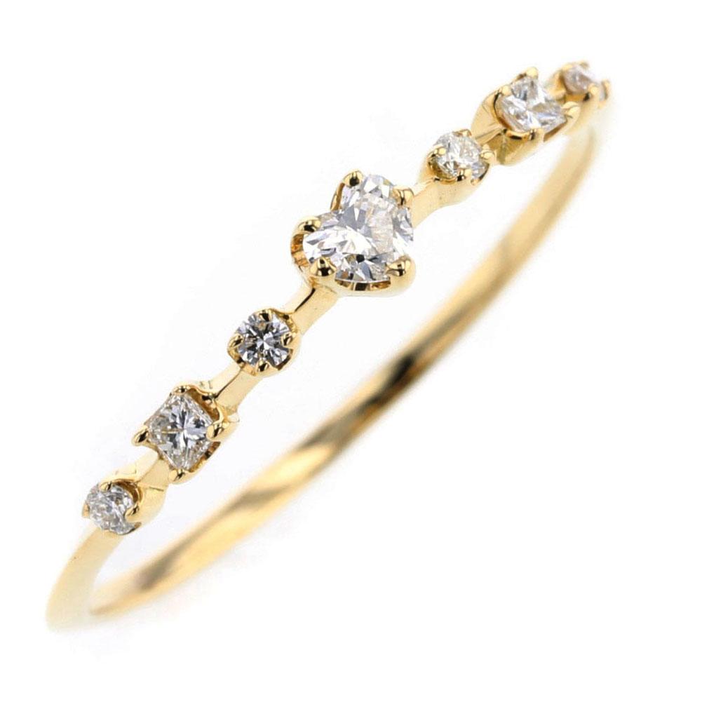 アーカー レメディ ダイヤモンド 0.15ct リング 指輪 K18イエローゴールド 11.5号 レディース AHKAH 【中古】 K80613039 【PD3】