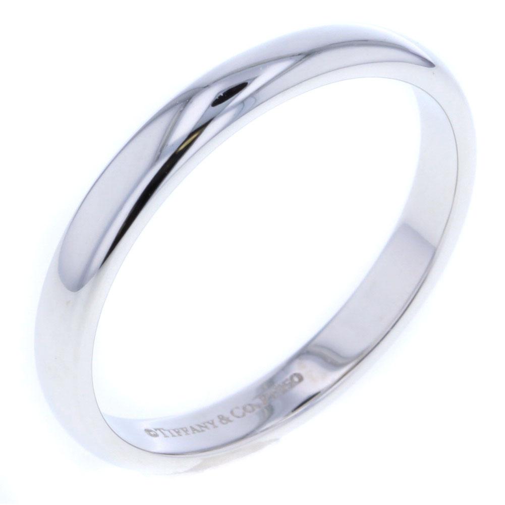ティファニー クラシック バンド ウェディング リング 指輪 PT950 21号 メンズ TIFFANY&Co.【中古】K80627222