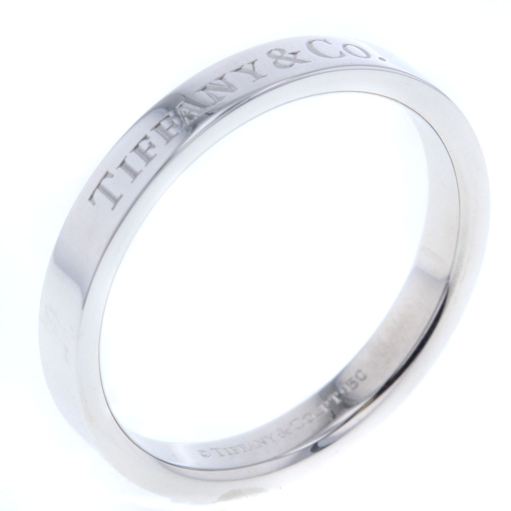 ティファニー フラットバンド 16.5号 リング 指輪 プラチナPT950 メンズ TIFFANY&Co. 【中古】K80713339