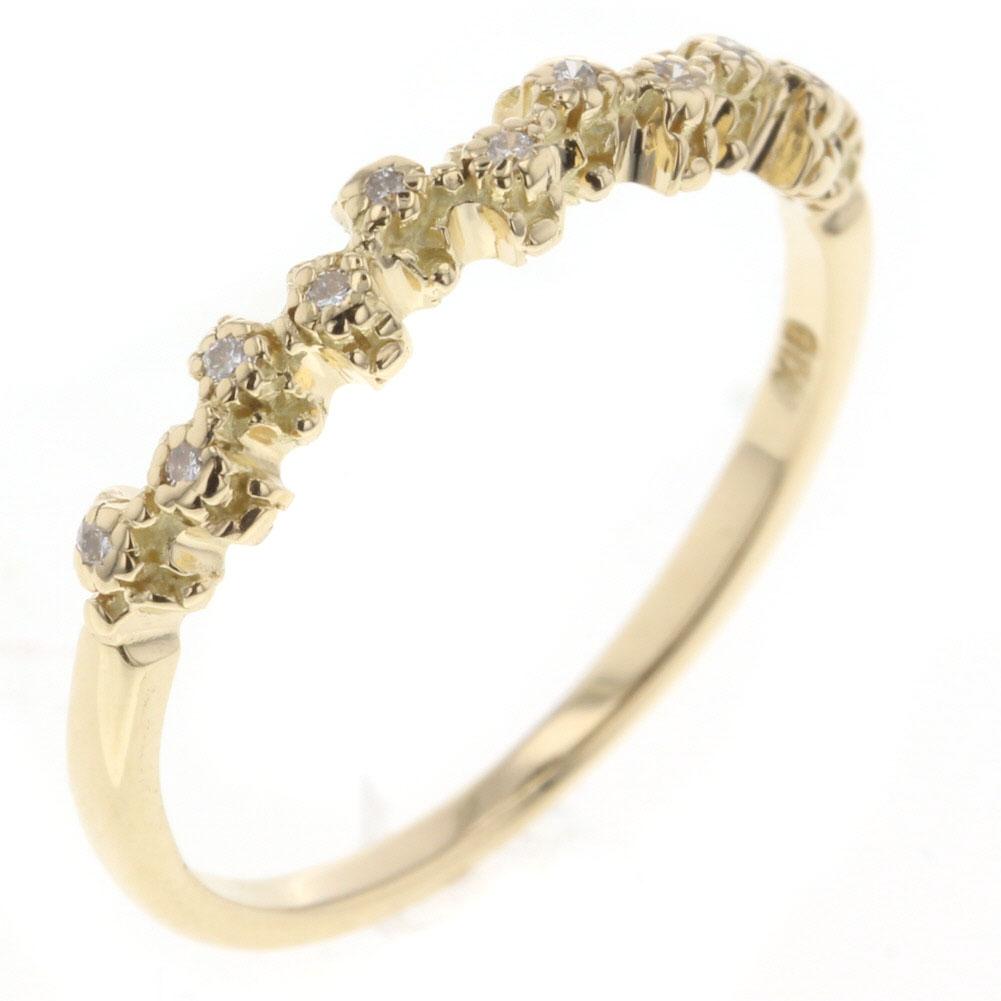 アーカー イマジン リング 指輪 ダイヤモンド 0.05ct K18 イエローゴールド 11号 レディース AHKAH 【中古】K80813668
