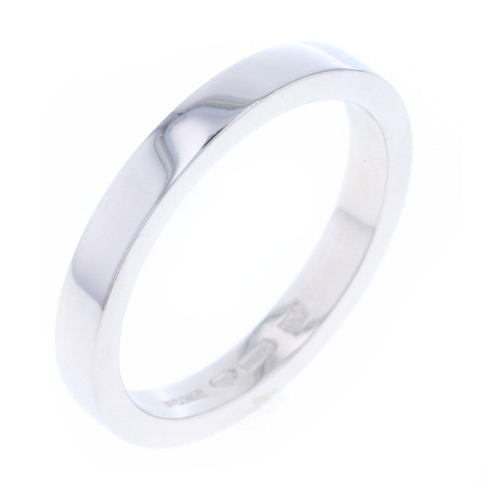 ブルガリ マリーミー 3mm幅 リング・指輪 プラチナPT950 17号 メンズ BVLGARI 【中古】K80813591