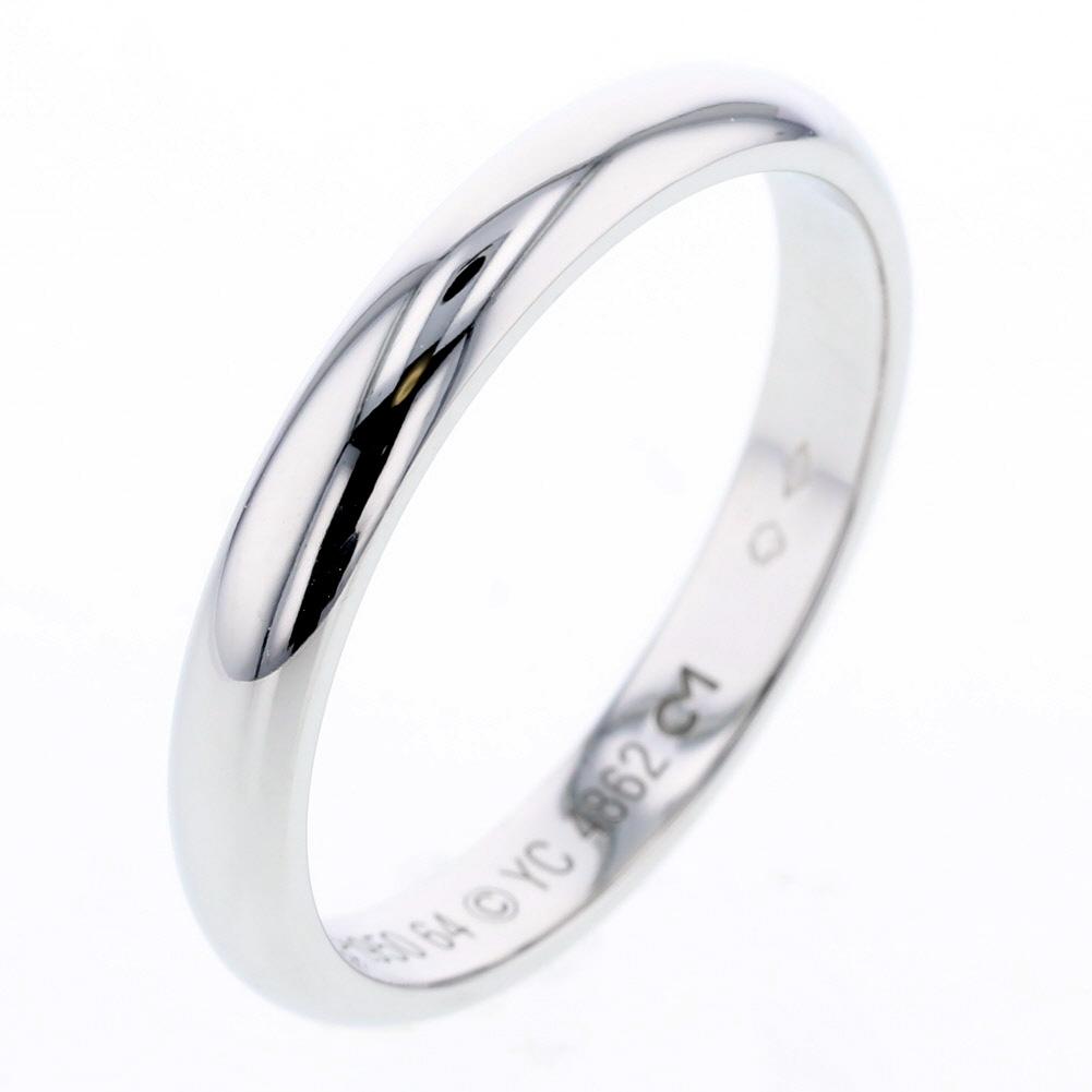 カルティエ 1895 ウェディング 3.5mm リング 指輪 プラチナPT950 24号 メンズ CARTIER【中古】K81023368