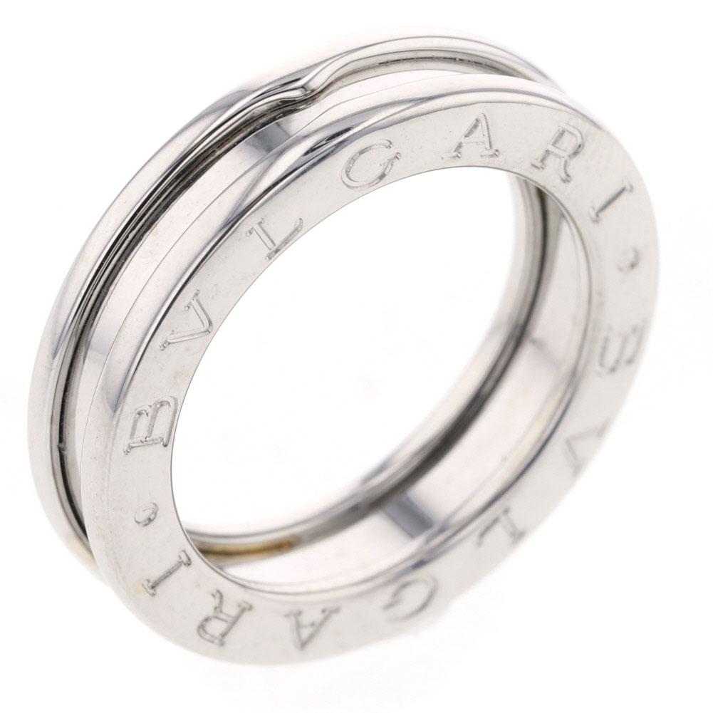 ブルガリ ビーゼロ 10号 XSサイズ 1バンド リング 指輪 K18ホワイトゴールド レディース BVLGARI 【中古】K81212961