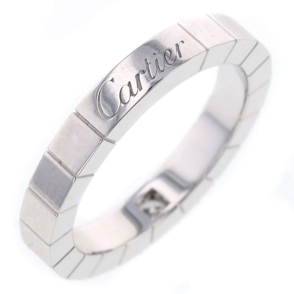 カルティエ ラニエール 1P リング・指輪 K18ホワイトゴールド/ダイヤモンド 10号 レディース CARTIER【中古】K81213015