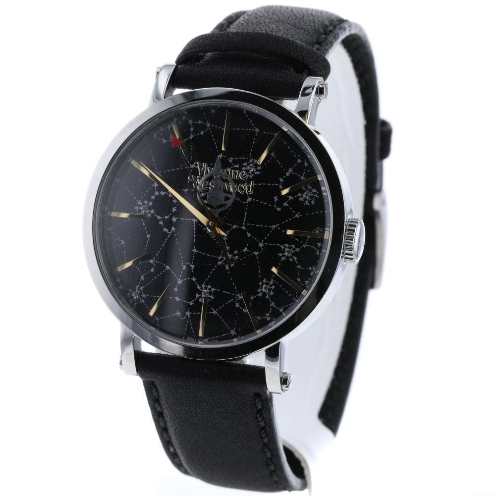 ヴィヴィアン・ウエストウッド ORB HAND -FOLLOW THE STARS 腕時計 SS/革 ブラック レディース Vivienne Westwood【中古】K90223156