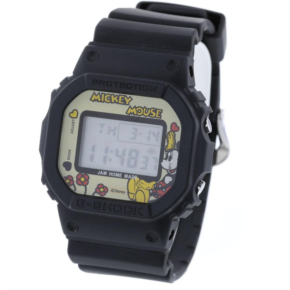 カシオ ディズニー ミッキーマウス 腕時計 DW-5600VT コラボレーションモデル 樹脂 ブラック メンズ CASIO 【中古】 K90223180