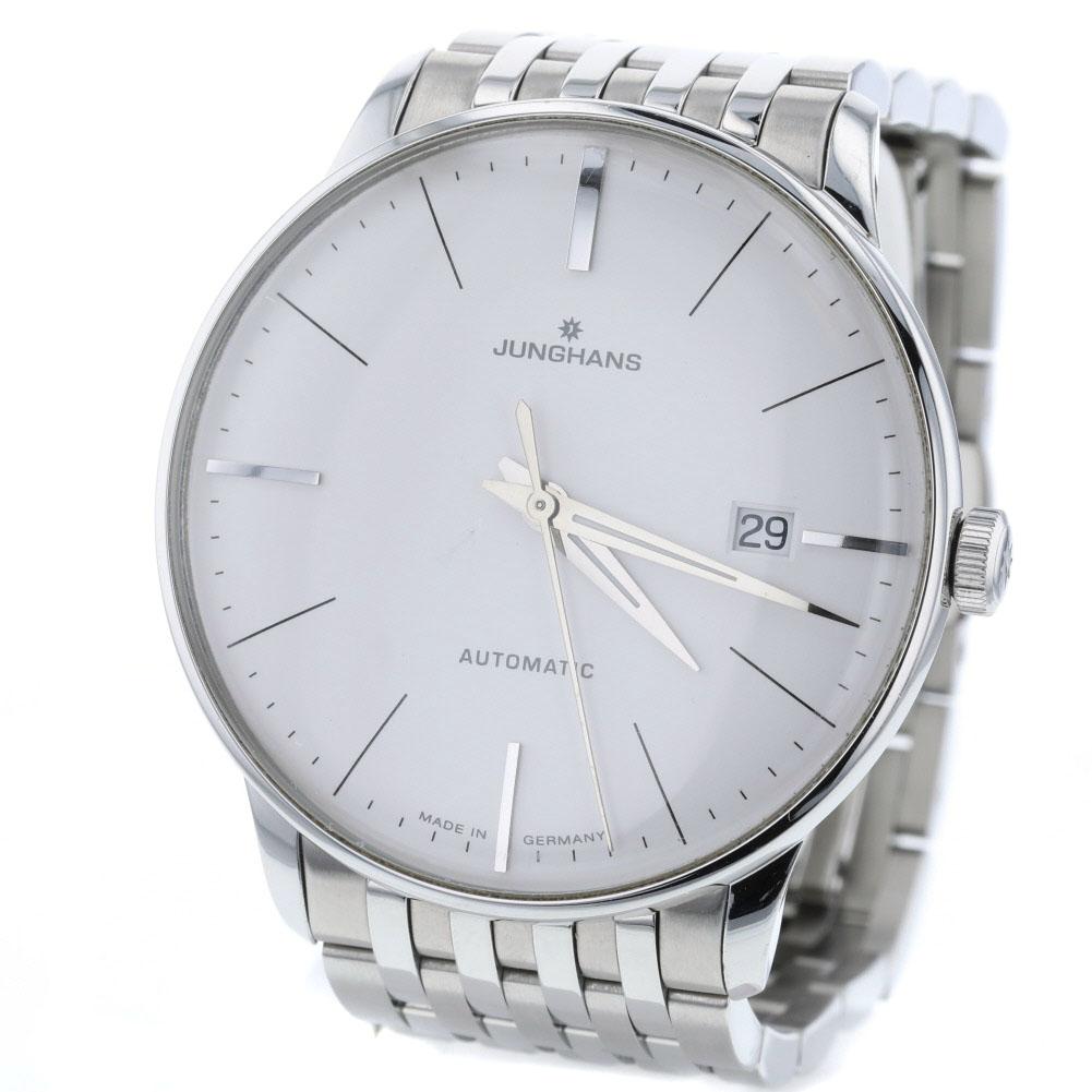 ユンハンス マイスター AT 白文字盤 腕時計 0274111.44 ステンレススチール メンズ 8326【中古】K90223182