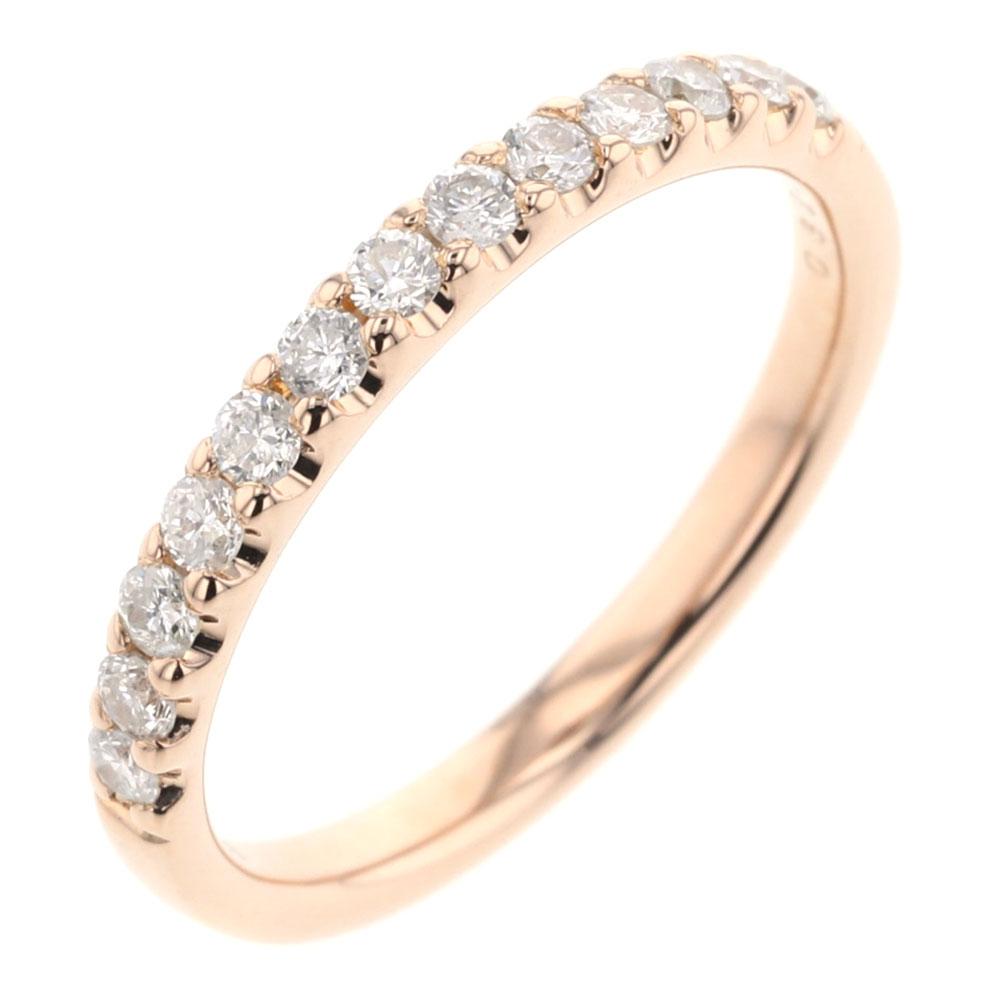 4℃ ハーフエタニティ リング 指輪 ダイヤモンド 0.325ct K18 ピンクゴールド 12号 レディース ヨンドシー 【中古】K81223101