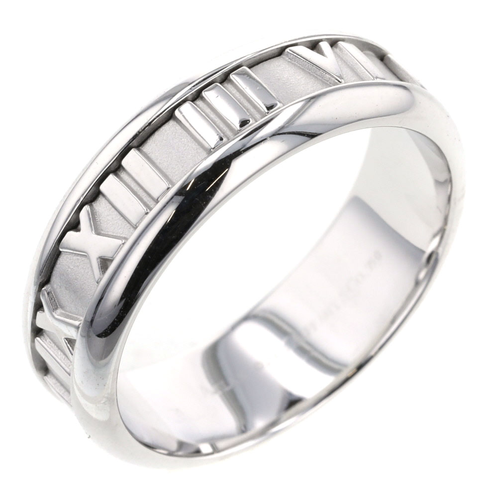 新品仕上げ 送料無料 お買い得 ギフト 中古 リサイクル ティファニー アトラス 指輪 TIFFANYCo. K18ホワイトゴールド リング 20号 幅約7mm 新作 人気 お歳暮 K10326872 メンズ