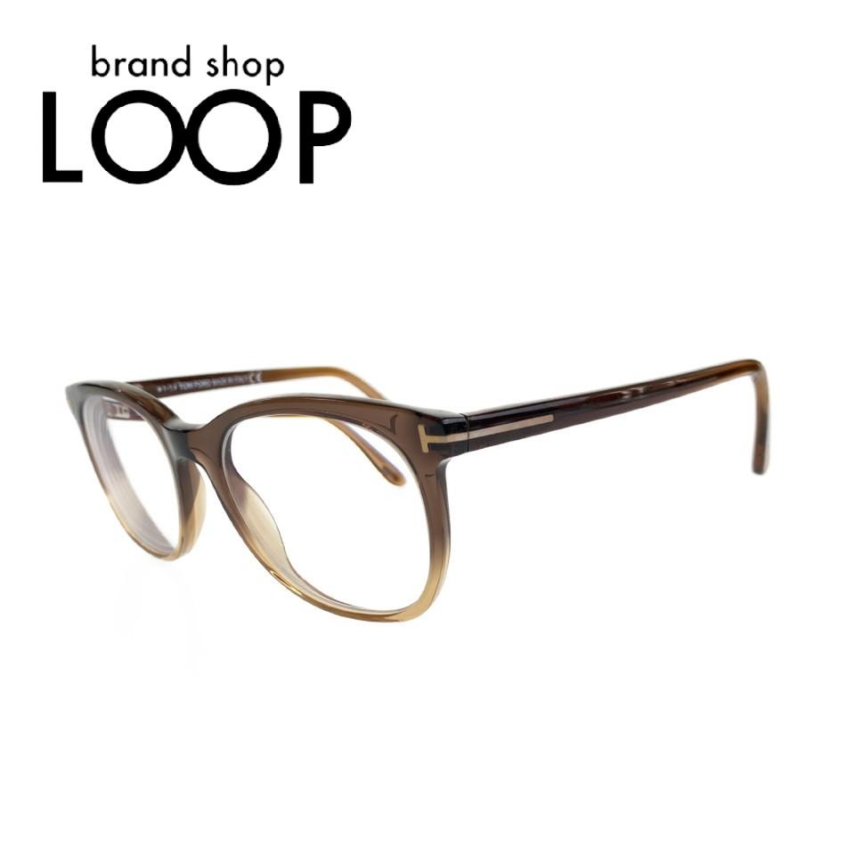 美品 TOM FORD トムフォード フレーム ブラウン クリア TF5310 メガネ 眼鏡 度入り サングラス【中古】 メンズ 100460