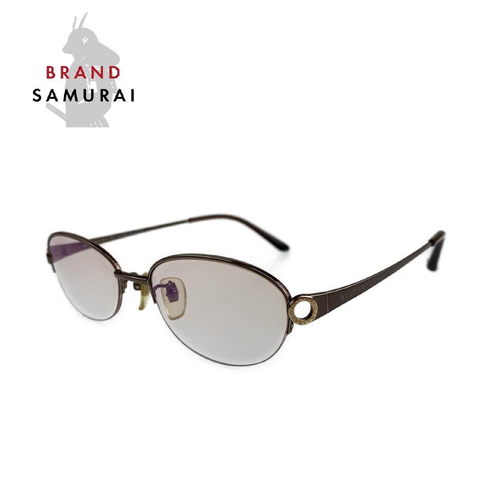 美品 BVLGARI ブルガリ ヴィンテージ ビーゼロ ブロンズ ゴールド J257868 メガネ 眼鏡 サングラス【中古】 度あり 100687