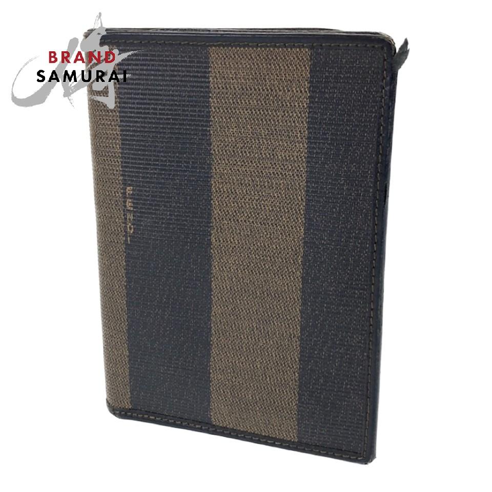 送料無料新品 BRAND SAMURAI FENDI フェンディ ヴィンテージ ペカン ブラック カードケース ブラウン 中古 102494 レディース 直輸入品激安 PVC レザー