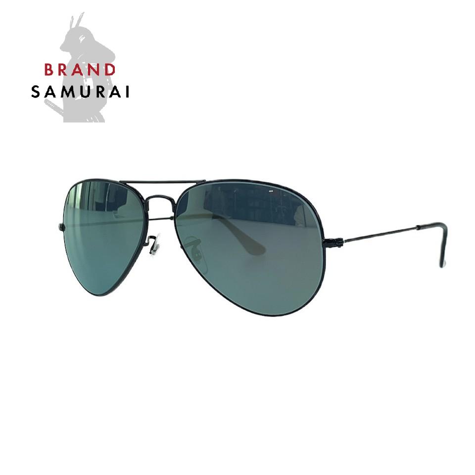 BRAND SAMURAI 美品 マーケティング Ray-Ban レイバン バーゲンセール ブラック サングラス ティアドロップ メンズ プラスチック 中古 103006