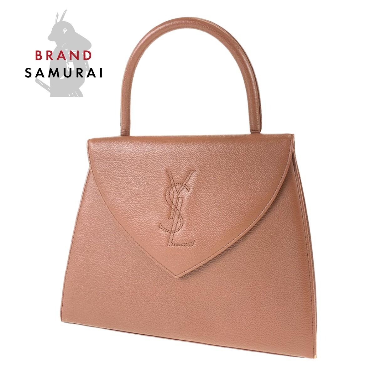 BRAND SAMURAI YVES SAINT 人気 LAURENT イヴ サンローラン レザー 中古 ヴィンテージ 購買 ハンドバッグ レディース 103770 YSL