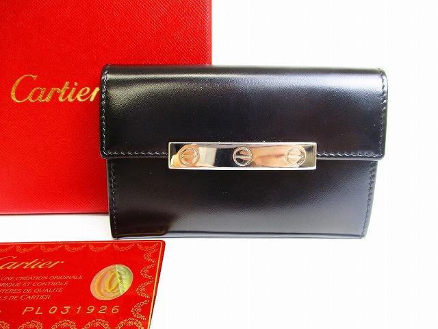 【未使用保管品】Cartier カルティエ ラブ コレクション カードケース 名刺入れ メンズ レディース 黒 【中古】