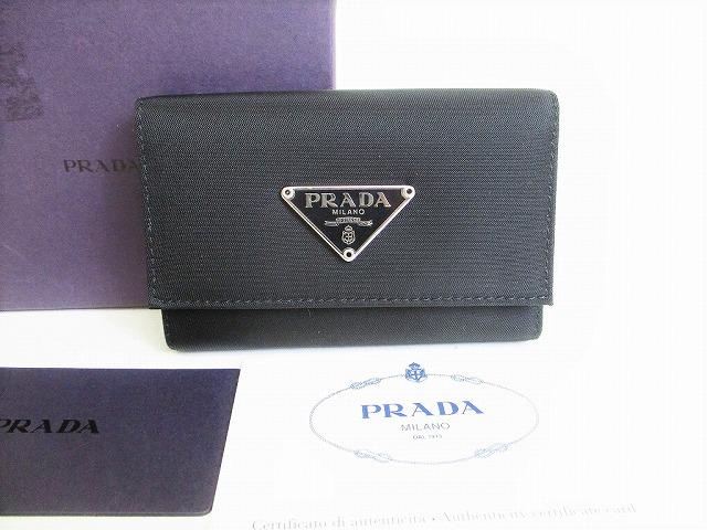 未使用保管品 プラダ PRADA ナイロン×レザー 人気上昇中 6連 セール特価 キーケース レディース ネロ 中古 キーリング メンズ