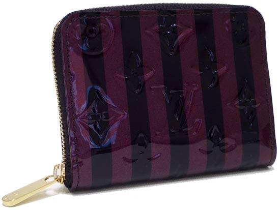 Louis Vuitton Vernis zippy coin purse rauyres M91719 Amarante x Rouge fauviste
