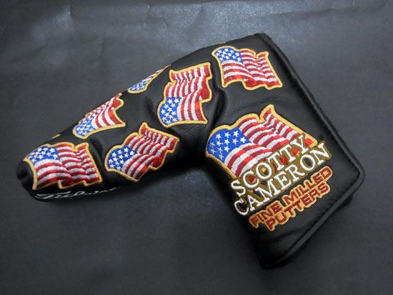 【送料無料・代引き手数料無料】【未使用 S品】【激レア品♪】 スコッティキャメロン 2016 全米オープン記念 U.S.Flags アメリカ国旗 パター用 ヘッドカバー パターカバー