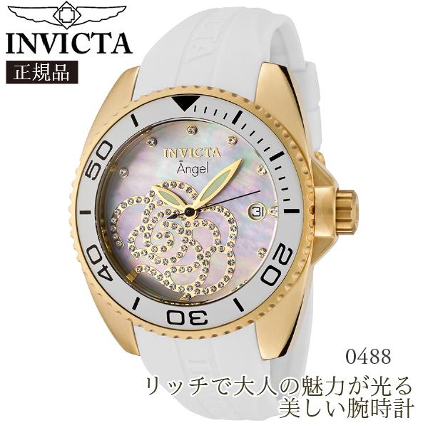 【国内発送】 INVICTA (インビクタ) 腕時計 INVICTA Women's Angel White Polyurethane MOP Dial:Style-0488