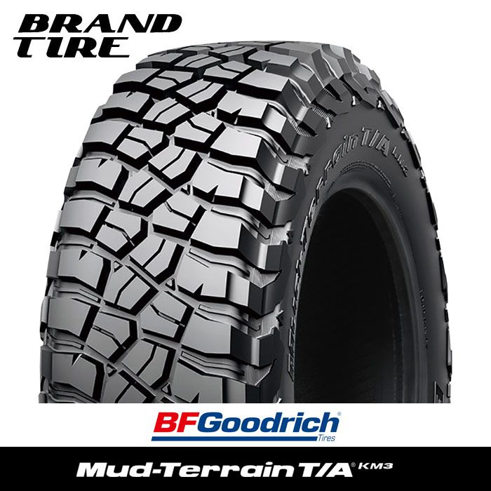 流行 BFGoodrich BFグッドリッチ 公式 マッドテレーンT A 124Q タイヤのみ1本価格 37X12.5R17 KM3