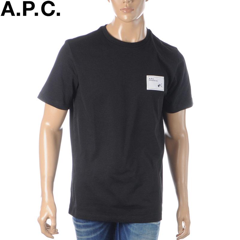 アーペーセー A.P.C. クルーネックTシャツ メンズ 半袖 COEAW-H26847 ブラック 2020春夏新作