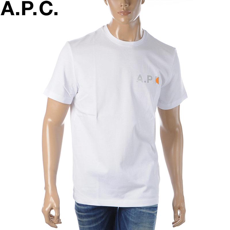 アーペーセー A.P.C. Carhartt WIP クルーネックTシャツ 半袖 メンズ COECZ-H26888 ホワイト 2020春夏新作