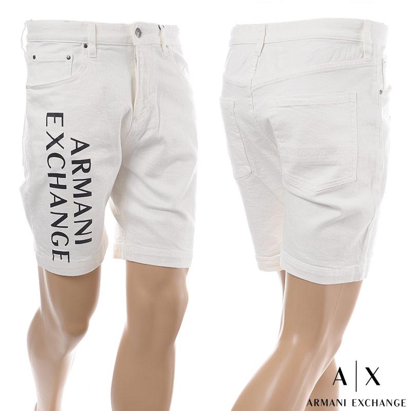 アルマーニエクスチェンジ A|X ARMANI EXCHANGE ショートパンツ デニム メンズ 3GZS47 Z1H3Z ホワイト