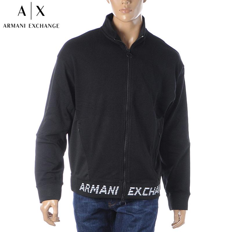 アルマーニエクスチェンジ A|X ARMANI EXCHANGE ジップスウェット メンズ 3HZMFL ZJBAZ ブラック 2020春夏新作