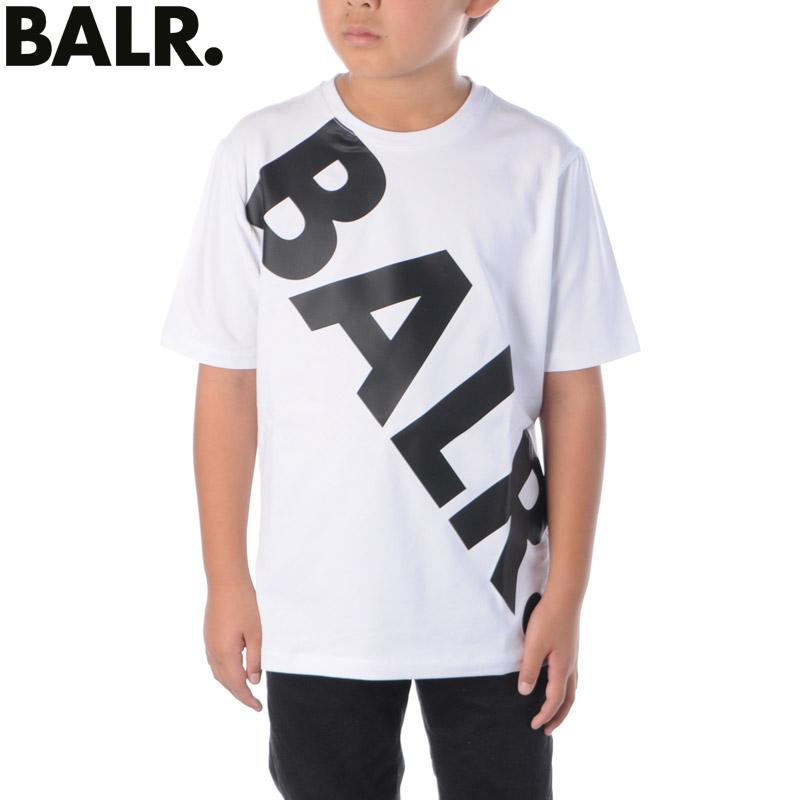 ボーラー BALR. Tシャツ 半袖 クルーネック キッズ 大注目 誕生日 お祝い ブランド TILTED KIDS ホワイト LOGO B10218 T-SHIRT