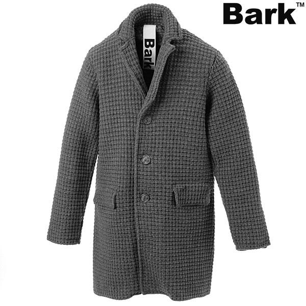 バーク Bark メンズニットチェスターコート/グレー/42B8400