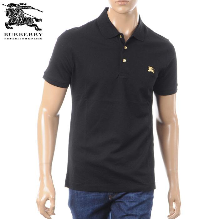 バーバリー BURBERRY ポロシャツ 半袖 メンズ 4028751 ブラック 2018春夏セール