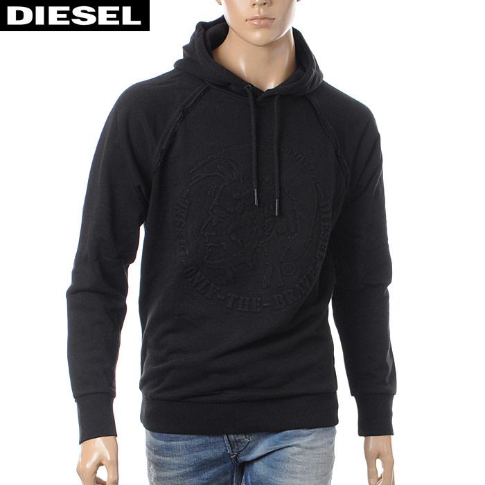 ディーゼル DIESEL プルオーバーパーカー スウェット メンズ S-ROY 00SZEQ-0WAHW ブラック