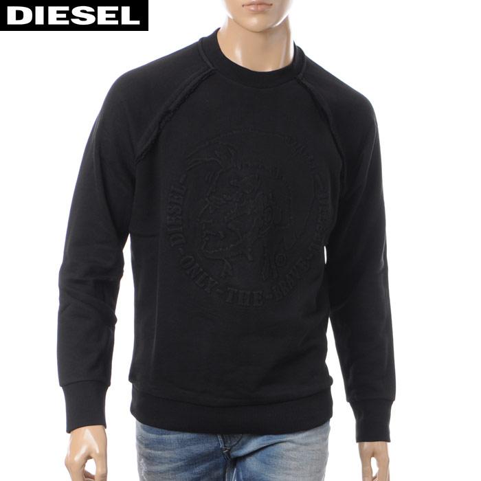 ディーゼル DIESEL クルーネックスウェット トレーナー メンズ S-PAUL 00SZER-0WAHW ブラック 2017秋冬セール