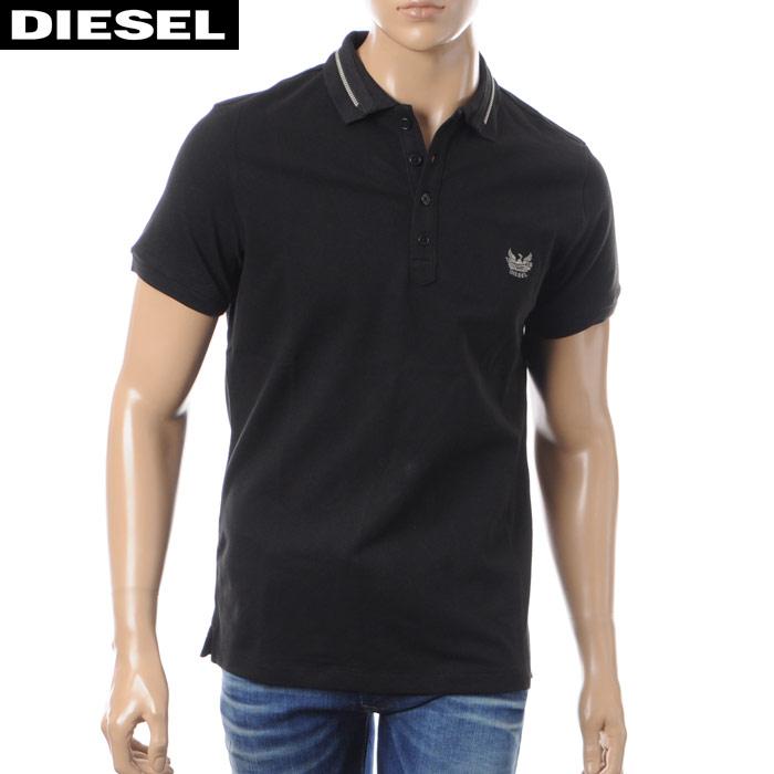 ディーゼル DIESEL ポロシャツ 半袖 メンズ T-STRIP 00S8QD-00MXZ ブラック