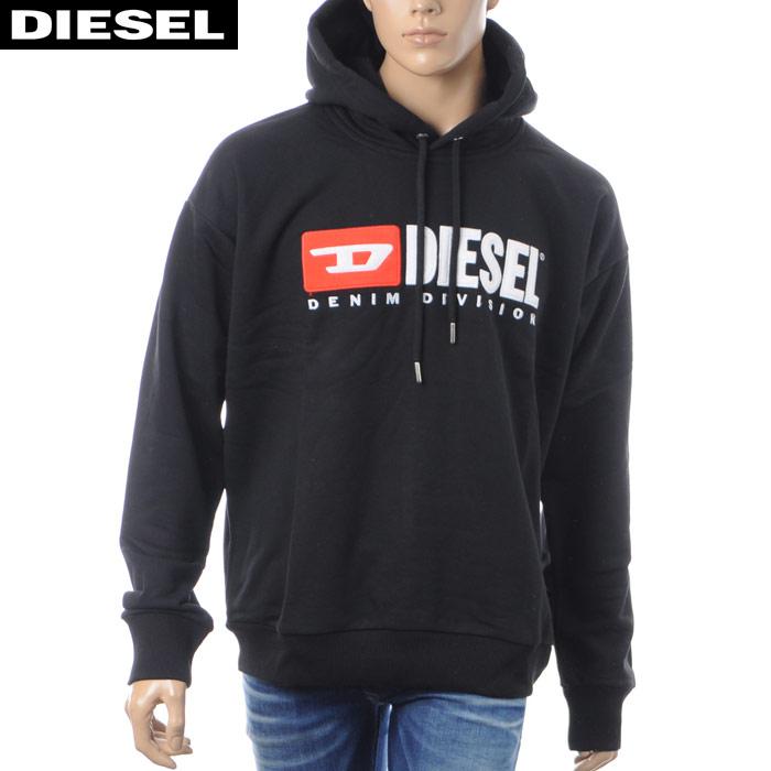 ディーゼル DIESEL プルオーバーパーカー メンズ S-DIVISION 00SH34-0CATK ブラック 2018秋冬新作