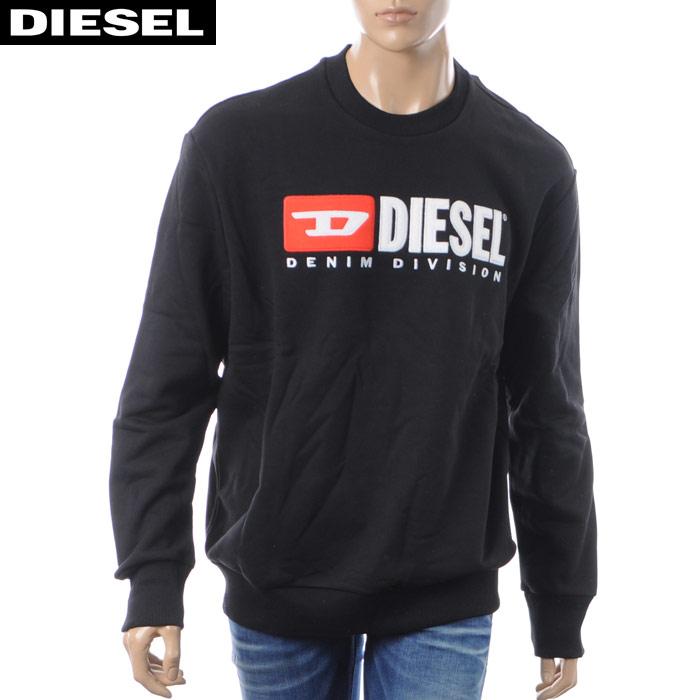 ディーゼル DIESEL クルーネックスウェット メンズ S-CREW-DIVISION 00SHEP-0CATK ブラック 2018秋冬新作
