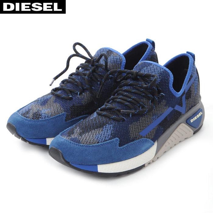 ディーゼル DIESEL スニーカー ローカット メンズ S-KBY Y01534 P1349 ブルー カモフラ